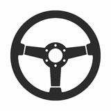 Steering wheel. Vector icon isolated on white background Royalty Free Stock Photo