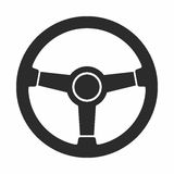 Steering wheel. Vector icon isolated on white background stock illustration