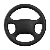 Steering wheel on white background Stock Photo
