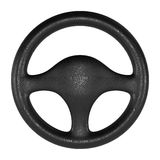 Steering wheel on white background Royalty Free Stock Photo