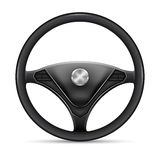 Steering wheel on a white. Background Stock Photo
