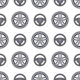 Steering wheels hearts seamless pattern background auto wheel vector illustration. Steering wheels car hearts seamless pattern background auto wheel vector Stock Photos