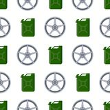 Steering wheels hearts seamless pattern background auto wheel vector illustration. Steering wheels car hearts seamless pattern background auto wheel vector royalty free illustration