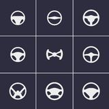 Steering wheels icons. Set of icons on a theme sterring wheels Stock Photo