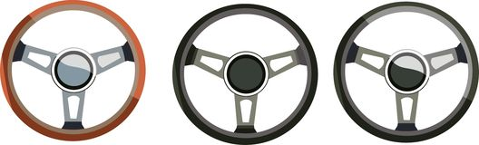 Steering wheels Stock Images