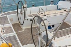 Steering yacht Stock Image
