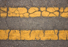 Steet background. Yellow street background texture of rough asphalt Stock Images