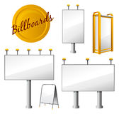 Steet Billboards Set Royalty Free Stock Images