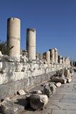 Steet de mármol, Ephesus, Esmirna, Turquía Imagen de archivo libre de regalías