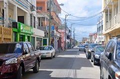 Steet de ville de Belize, Belize photo stock