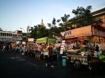 Steet di camminata di Nonthaburi Fotografia Stock Libera da Diritti
