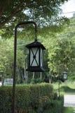 Steet-Lampen im Garten Stockbilder