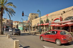 Steet in the old city of Jaffa Stock Photo