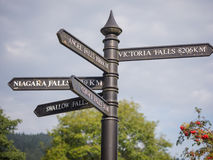 Steet signs in Snowdonia, Wales Royalty Free Stock Image