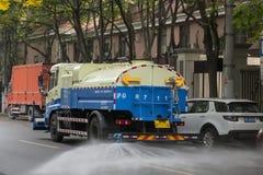 Steet tvagning i Shanghai Royaltyfri Foto