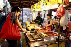 Steet vendor in Korea Royalty Free Stock Image
