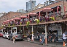 Steet w szczupaka miejsca rynku, Seattle, Waszyngton obraz royalty free