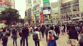Steets van de kruising van Tokyo Shibuya Stock Afbeelding