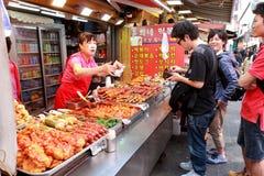 Steetverkoper in Korea Stock Foto