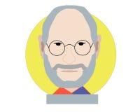 Steve Jobs art royalty free illustration