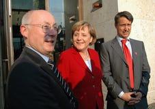 Stefan Aust, Angela Merkel, Gabor Steingart Royalty Free Stock Photos