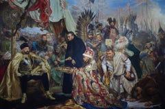 Stefan Batory στο Pskov που χρωματίζει μέχρι τον Ιανουάριο Matejko στοκ εικόνα