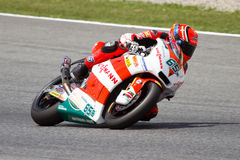 Stefan Bradl racing (Moto2) Royalty Free Stock Photo