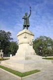 Stefan cel母马的纪念碑在基希纳乌 免版税库存照片