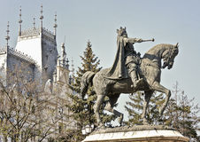 Stefan cel Mare Statue en la Moldavie Photos libres de droits