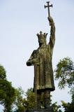 Stefan Cel Mare. Statue of famous Moldavian statesman in Cishinau Stock Image