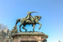 Stefan cel Mare statue in Iasi, Romania Stock Image