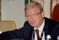 Stefan Fule, comisión europea anterior para la ampliación y ENP Imagenes de archivo