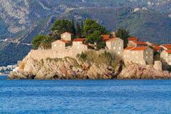 stefan sveti St Stephen ö, Montenegro Royaltyfri Fotografi