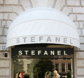 Stefanel shop Royalty Free Stock Image