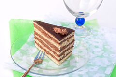 Stefania cake. Stefania (chocolate) cake from Hungary Royalty Free Stock Photos
