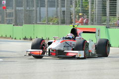 Stefano Coletti участвуя в гонке в Сингапур GP2 2012 Стоковое фото RF