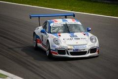 Stefano Colombo Porsche Carrera kopp 2015 på Monza Fotografering för Bildbyråer