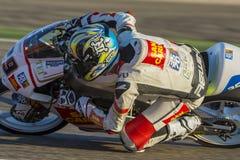 Stefano Manzi Moto3 Grand Prix Movistar Aragà ³ ν Στοκ εικόνες με δικαίωμα ελεύθερης χρήσης