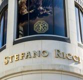 Stefano Ricci Retail Store Exterior Stockbild