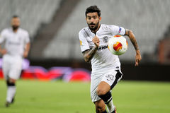 Stefanos Athanasiadis of Paok. THESSALONIKI, GREECE - SEPT 19 : Stefanos Athanasiadis of Paok in action during the Europa League group stage match PAOK vs Royalty Free Stock Photos