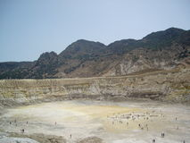 Stefanos crater. The volcano on the island of Nisyros. Stock Photos