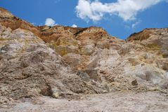 Stefanos volcano crater, Nisyros. Inside the Stefanos volcano crater on the Greek island of Nisyros Stock Image
