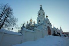 Stefanov-Kloster der Dauerwelle-Heiligen Dreifaltigkeit Permskiy Kray Russland stockbild