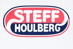 Steff Houlberg logo na ścianie Fotografia Stock