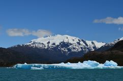 Steffen glacier in Campo de Hielo Sur Southern Patagonian Ice Field, Chilean Patagonia. The Steffen glacier close to the village of Caleta Tortel in Southern royalty free stock photos