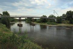 Steg über Fluss Berounka Stockfotos