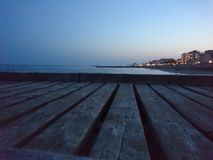 Steg auf Lido di Jesolo Beach stockbild
