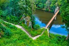 Steg über Modre See Lizenzfreies Stockbild