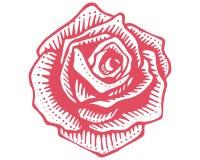 Steg blommavektorillustrationen royaltyfri illustrationer