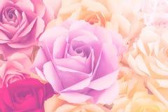 Steg dekorativa pappers- blommor Arkivbilder